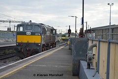 074 at Connolly, 11/5/19 (hurricanemk1c) Tags: railways railway train trains irish rail irishrail iarnród éireann iarnródéireann 2019 generalmotors gm emd 071 074 dublin connolly