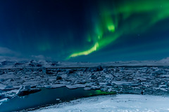 Northern Lights - Aurora Borealis at Glacial Lagoon, Iceland (Peta Jade) Tags: auroraborealis bucketlistticked glaciallagoon glacierlagoon northernlights addictedtotravelnow holiday holidaywithgorgeousboyfriend ice iceland mystic naturalphenomena nightsky photography sky travel traveldestination tripofalifetime winterholiday