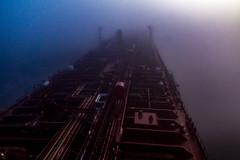 Foggy Day (langdon10) Tags: canada laurentiadesgagnes montreal quebec stlawrenceriver fog large ship tanker