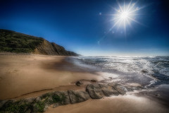 'Dreaming about Magoito' (Canadapt) Tags: beach sand rocks cliff sun surf ocean surreal magoito portugal canadapt