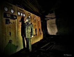 Postnuclear Vault Control ☢️ (Bo Ragnarsson) Tags: postnuclear postapocalyptic vault vaulttec gasmask gsmask fallout stalker radioactive biohazard boragnarssonphotography industrial