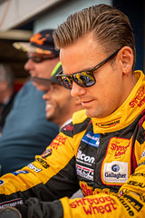 Tom Chilton Team Shredded Wheat with Gallagher Ford Focus RS during autograph signing at Thruxton (jdl1963) Tags: tom chilton team shredded wheat with gallagher ford focus rs british touring cars btcc motor sport motorsport racing thruxton andover hampshire uk