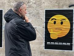 Mmmm..... (tatianalovera) Tags: giallo yellow murales carta paper streetart poster lazio italia italy rome roma surprise sorpresa