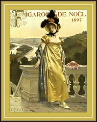 1897 Nov  COVER  From Figaro illustré, Figaro de Noël (Paris), Woman on Balcony - Tall Plumes in Hat,   art by François Flameng (karadogansabri) Tags: robertchaefner robert haefner c bob