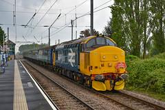 37409  t&t 37405 - Watlington - 18/05/19. (TRphotography04) Tags: br large logo 37409 lord hinton direct rail serves 37405 topntail the each express 3 charity railtour 1g38 1135 ely kings lynn past watlington