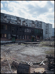 (selfoxide) Tags: 6x45 bronicarf645 cityscape decay film fujireala100 mediumformat