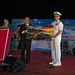 Vice chairman of the Phu Yen's People's Committee presents U.S. Navy Rear Adm. Joey Tynch with a gift