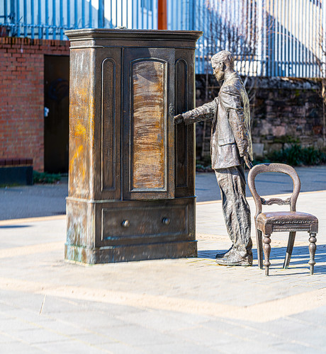 THE WARDROBE AT THE C.S. LEWIS SQUARE [CONNSWATER AND COMBER GREENWAYS BELFAST]-152770
