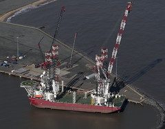 The Seajacks Scylla docked in Great Yarmouth outer harbour - Norfolk aerial (John D Fielding) Tags: scylla seajacks yarmouth greatyarmouth harbour harbor outerharbour vessel norfolk ship above aerial nikon d810 hires highresolution hirez highdefinition hidef britainfromtheair britainfromabove skyview aerialimage aerialphotography aerialimagesuk aerialview drone viewfromplane aerialengland britain johnfieldingaerialimages fullformat johnfieldingaerialimage johnfielding fromtheair fromthesky flyingover fullframe uk