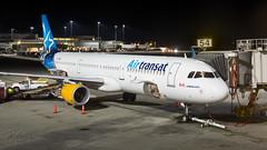 C-FTXZ - Air Transat - Airbus A321-211(WL) (bcavpics) Tags: cftxz airtransat airbus a321 aviation aircraft airliner airplane plane night gate cyvr yvr vancouver britishcolumbia canada bcpics