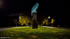The Owl Statue on Tuesday morning (garydlum) Tags: owlstatue publicart canberra australiancapitalterritory australia