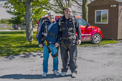 Kevin and his Dad after their Tandem Jump (firstfire53) Tags: worldtour skydiving skydivefingerlakes ovid newyork c182 tandem