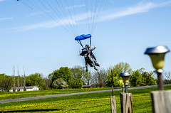 Coming in for the landing (firstfire53) Tags: worldtour skydiving skydivefingerlakes ovid newyork c182 tandem
