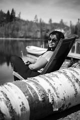 Sun bath (samujjwalsahu) Tags: weekend suomi roadtrip travel friends sunset countryside lake sky forest villarajala finland east russiaborder kesä portraits landscape fujifilm fujifilmxseries fuji primelens zoomlens kompanero leatherbag sunglasses fujifilmxt20 fujifilmxe1 reflection boat doubleexposure yoga