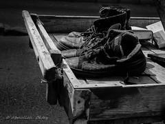 Junkman's Pushcart (Oktay A) Tags: streetphotography sokak people blackwhite bw art insan human arrowcolt monochrome bnwdemand bnwpeople bnw bnwstreet ishootpeople samsungcamera tree road car building paperpicker nxmini 17mmf18 pushcart junkman eskici oldshoes oldbook videocassette