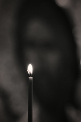 A Prayer / Молитва (Boris Kukushkin) Tags: jesus christ christianity bw candle иисус христос христианство чб