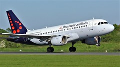 OO-SSS (AnDyMHoLdEn) Tags: brusselsairlines a319 lufthansagroup staralliance egcc airport manchester manchesterairport 23l