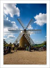 Early arrivals (G. Postlethwaite esq.) Tags: dof derbyshire heage unlimitedphotos bokeh classicbikes clouds depthoffield motorbike motorcycle photoborder selectivefocus sky windmill