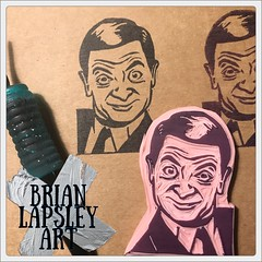 New #MrBean rubber-stamp all carved up. (Brian Lapsley) Tags: ink snailmail iuoma mailart share create make diy art mrbean rubberstamp