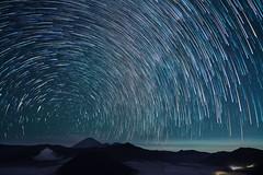 Cometrails over Mount Bromo (Tom Helleboe) Tags: sony a7riii iso1600 f2 20s starstax