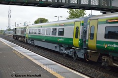 4130 at Portlaoise, 8/5/19 (hurricanemk1c) Tags: railways railway train trains irish rail irishrail iarnród éireann iarnródéireann portlaoise 2019 caf mark4 intercity 4130 1625corkheuston