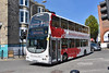 Go Ahead East Yorkshire 718, YX07HKE. (EYBusman) Tags: go ahead east yorkshire north motor services eyms hull bus coach scarborough westborough town centre overall advert armistice centenary raf wright eclipse gemini volvo b9tl yx07hke eybusman