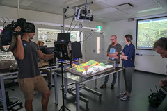 RESEARCH: Geological Sandbox with Christoph Schrank (QUT Science and Engineering Faculty) Tags: sef science brisbane queensland australia qut schoolofearthenvironmentalandbiologicalsciences eebs geology christophschrank leeconstable scope channel ten tv