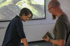 RESEARCH: Geological Sandbox with Christoph Schrank (QUT Science and Engineering Faculty) Tags: sef science qut schoolofearthenvironmentalandbiologicalsciences eebs brisbane queensland australia geology christophschrank leeconstable scope channel ten tv