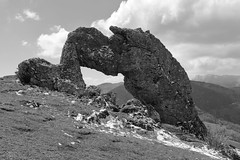 Has the devil been petrified? (yom1) Tags: pierre stone hole percée pierrepercée rocher rock rocks breakthrough nature noirblanc nb monochrome blackandwhite blackwhite bw noiretblanc montagne montagnes mountain alpes alps alpen alpi alpesfrançaises frenchalps french merveilledudauphiné dauphiné merveille wonder hiking promenade randonnée rando neige froid canon eos6dmarkii 6dmkii ef2470f4lisusm ef2470