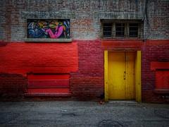 True colours (Edna Winti) Tags: alberta ednawinti calgary red graffiti alleyway alley