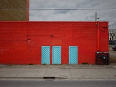 (Edna Winti) Tags: calgary brick doors blue red alberta ednawinti