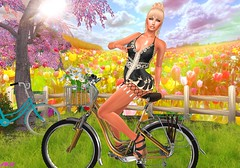 I Want To Ride My Bicycle (alexandra sunny) Tags: cotton luova ella secondlife blog blogger fashion bicycle woman female flowers catwa maitreya aviglam fabiahair