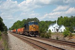 Gwathmey Church (TolgaEastCoast) Tags: csx train q031 ashland richmond rfp virginia intermodal single stack es44ah