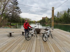 Bow River Cycle Loop, including Edworthy Park, Prince's Island Park, and Bowness Park - We take a break at the Bowness Park Lagoon, main part (benlarhome) Tags: calgary alberta canada edworthypark bownesspark downtown cycle cycling bike mountainbike