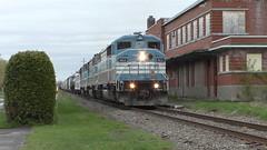 Job 1 Farnham Station (MaineTrainChaser) Tags: trains train westbound west quebec cmq job1
