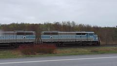 Job 1 Route 112 Austin, QC (MaineTrainChaser) Tags: trains train westbound west quebec cmq job1