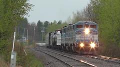 Job 1 Magog, QC (MaineTrainChaser) Tags: trains train westbound west quebec cmq job1