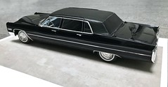 1966 Cadillac Fleetwood Series 75 Limousine (Jeffcad) Tags: 1966 cadillac car fleetwood series 75 limousine black 125 scale models model kit convertion conversion handmade hasegawa