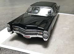 1966 Cadillac Fleetwood Series 75 Limousine (Jeffcad) Tags: 1966 cadillac fleetwood series 75 limousine 125 scale models model convertion conversion hasegawa kit handmade black car