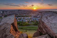 Athens of the North (Fading Dusk Photography) Tags: athensofthenorth edinburgh edinburghcastle uk scotland kyoshimasamune fadingduskphotography sunset hdr salisburycrags arthursseat holyroodpark holyrood firthofforth forth radicalroad cokinfilters tokinaatxpro1116mmf28dxii tokina1116mmf28 wideangle ultrawideangle