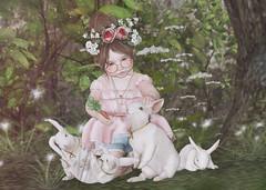bunny whisperer (Chelsea Noele Bixley) Tags: bunny girl spring white