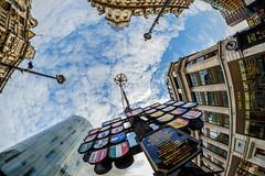 Fisheye London.. (The all seeing i) Tags: fisheye samyang 8mm fuji fujifilm swiss centre london outdoors flickr