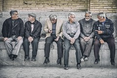 Longtime Friends (Roberto Pazzi Photography) Tags: street people chill out outdoor elder elderly isfahan group old wall building culture city asia photography place asian ethnicity iran full length nikon friends