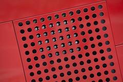 La Villette (Gerard Hermand) Tags: 1905208678 gerardhermand france paris canon eos5dmarkii lavillette folie metal parc red rouge trou hole penche leaning