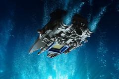 LL-515 Interplanetary-Submarine Explorer (The Brick Artisan) Tags: neoclassic space spaceship spacecraft classic classicspace underside underwater lego sub submarine ll515