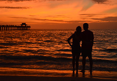 Enjoying the sunset together (radargeek) Tags: naples fl florida 2018 october couple pier naplespier sunset beach