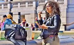To Send Or Not Send . . . (jaykay72.) Tags: london uk street candid streetphotography trafalgarsquare stphotographia