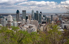 Skyline from Mount Royal (twomphotos) Tags: montreal quebec qc canada urban life mount royal skyline skyscraper