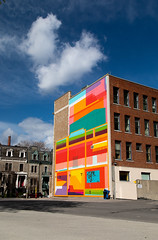 Colorfull house (twomphotos) Tags: montreal quebec qc canada urban life bestoftrips colorfull house blue sky cloud graffitti
