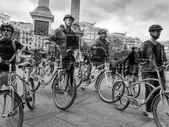 Bikes, Trafalgar Square (Allan Rostron) Tags: london trafalgarsquare bicycles cyclists street